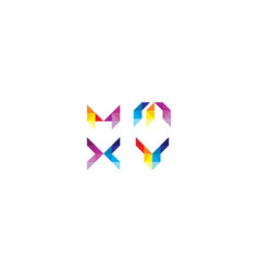abstract geometric logo icon vector image