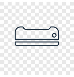 air conditioner concept linear icon isolated on vector image