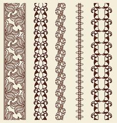 Art Line Border Set vector image