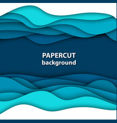 Background with deep blue and white color paper vector