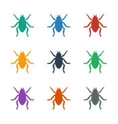 Beetle icon white background vector
