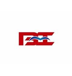 BI company linked letter logo vector image