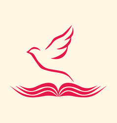 Bible and holy spirit vector