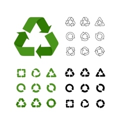 Big collection of recycle reuse icons vector