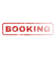 booking rubber stamp vector image