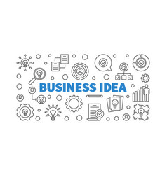 business idea concept outline banner or vector image