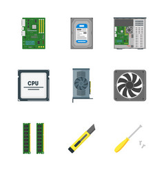 Cartoon personal computer components vector