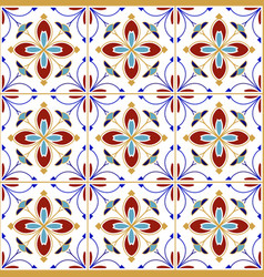 Colorful tile pattern vector
