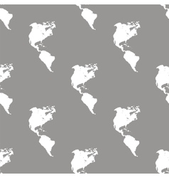 Continental Americas seamless pattern vector image