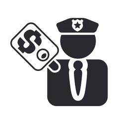 cop corruption icon vector image