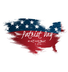 Creative poster or banner of patriot day with usa vector