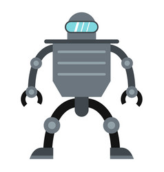 Cyborg robot icon isolated vector