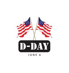 D-day template design vector
