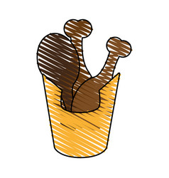 Delicious chicken thighs icon imag vector