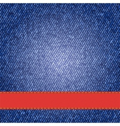 Denim texture with label ribbon vector