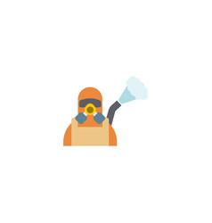 Disinfection service creative icon flat vector
