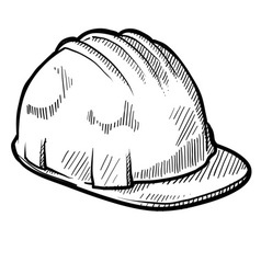 doodle construction hard hat vector image