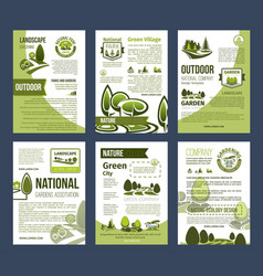 Ecology posters set for environment design vector