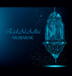eid al adha bright greeting card vector image