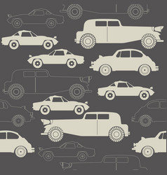 elegant seamless pattern with retro cars vector image