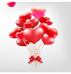 Elegant Valentines day heart balloons EPS 10 vector image