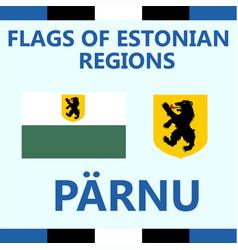 Flag estonian region laane vector