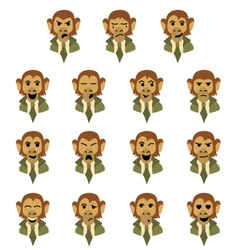 Flat monkey-businessman vector image