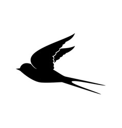 flying swallow silhouette vector image