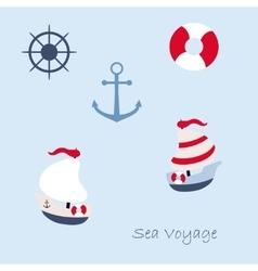 Funny sailing ship vector image