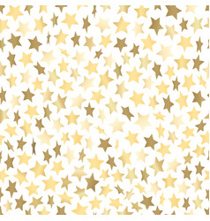 golden stars abstract seamless background template vector image