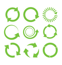 Green round recycle vector