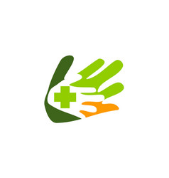 hand healthy care vector image