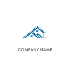 home real estate company logo vector image