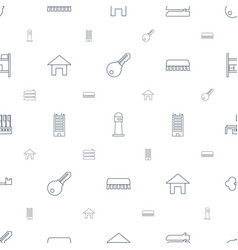 House icons pattern seamless white background vector