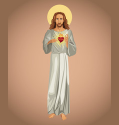 Jesus christ sacred heart spirit vector