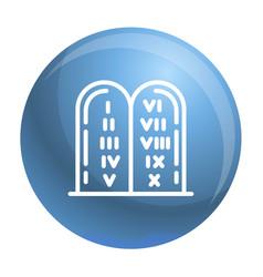 jewish stones icon outline style vector image
