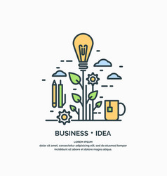 linear poster of business idea vector image