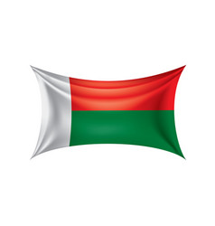 madagascar flag on a white vector image