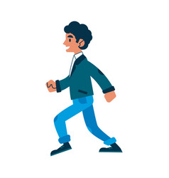 man walking or running in denim jeans vector image