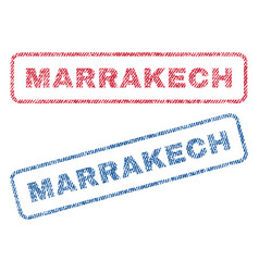 Marrakech textile stamps vector