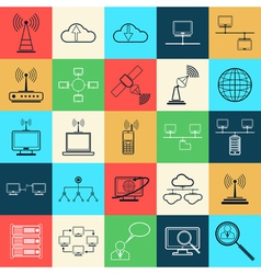 Network web icons vector image