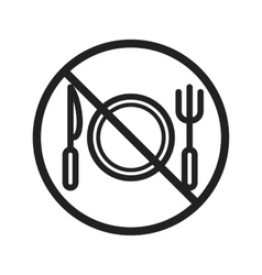 No Food vector image