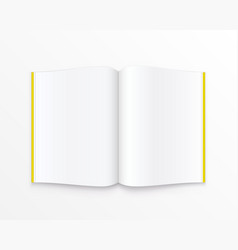 open paper book with text vector image