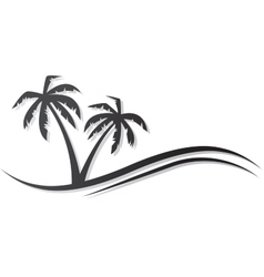 Palms black vector
