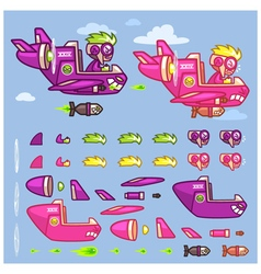 Phantom XXIV Plane Game Sprites vector image