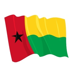 Political waving flag of guinea-bissau vector