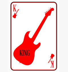 Red curvy guitar king vector