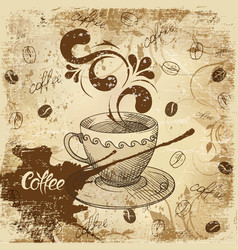 retro card design with coffee vector image