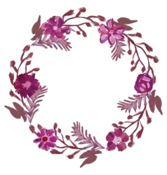 Round floral frame vector image