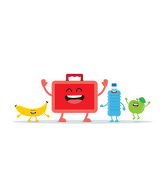 school lunch boxes vector image